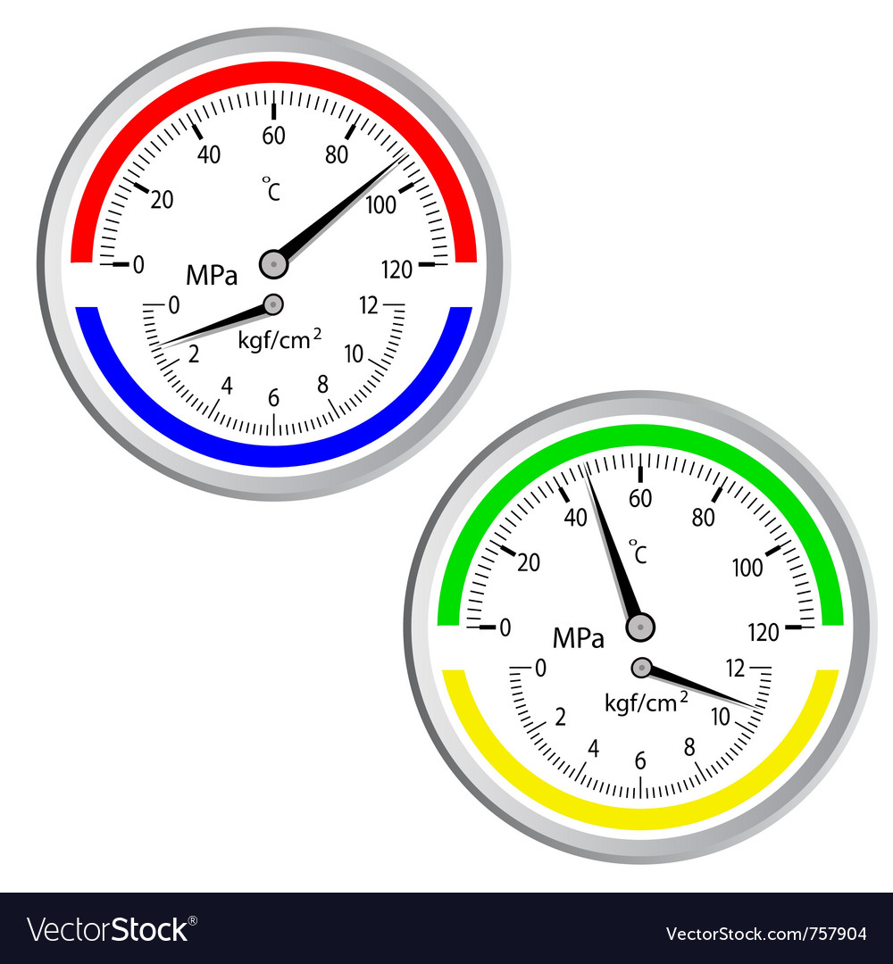 Gas manometer vector | Price: 1 Credit (USD $1)