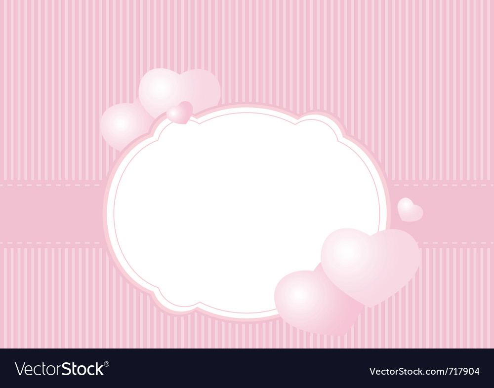 Greeting card on a pink background vector | Price: 1 Credit (USD $1)