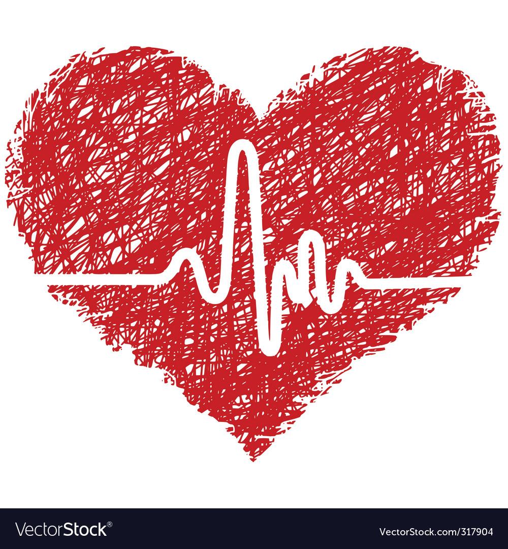 Heart beats vector | Price: 1 Credit (USD $1)