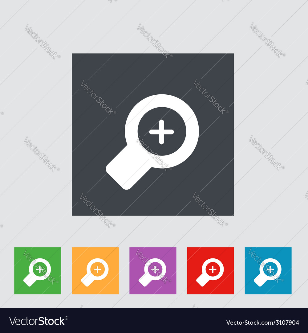 Magnifier icons vector | Price: 1 Credit (USD $1)