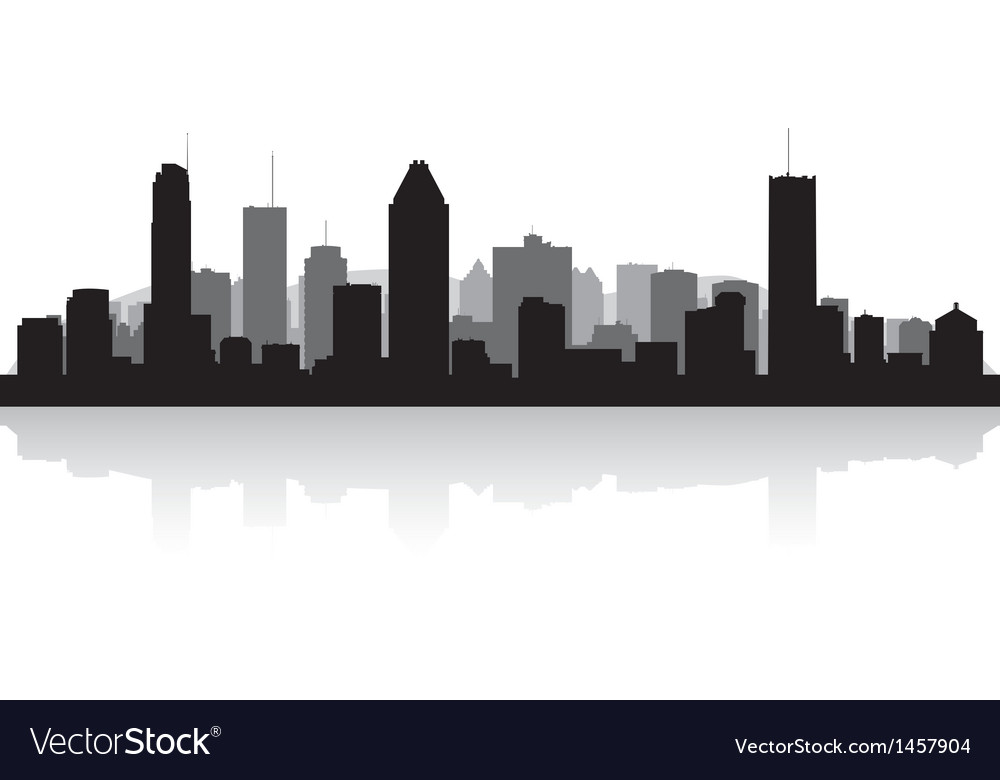 Montreal canada city skyline silhouette vector | Price: 1 Credit (USD $1)