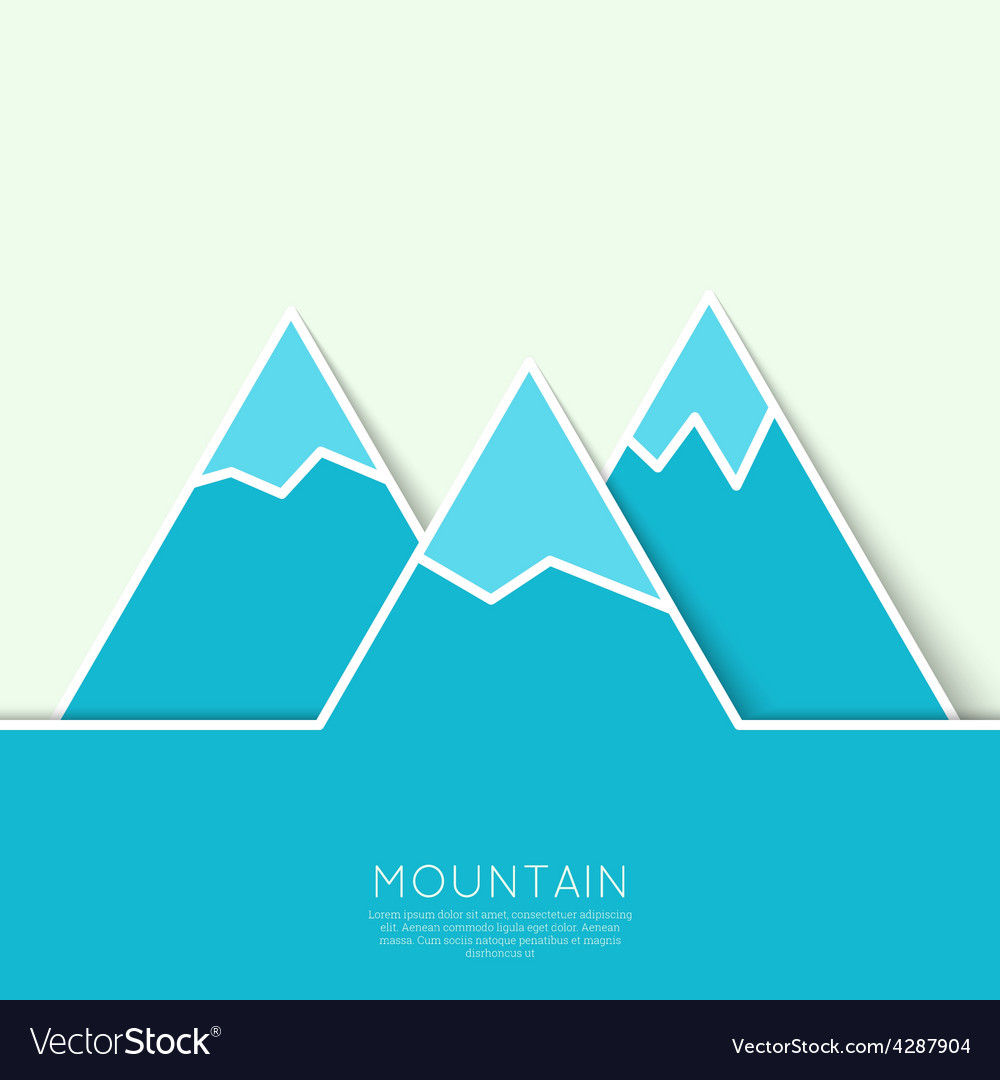 The mountains with snowy peaks vector   Price: 1 Credit (USD $1)