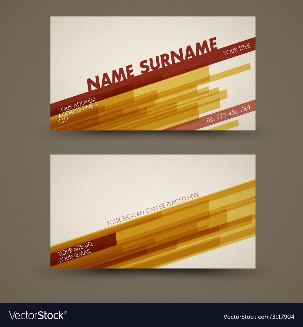 Old-style retro vintage business card template vector | Price: 1 Credit (USD $1)