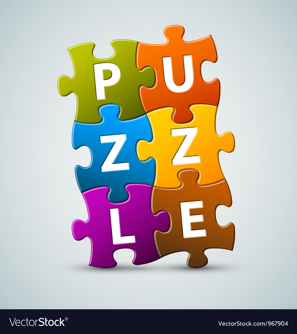 Puzzle lettering vector | Price: 1 Credit (USD $1)