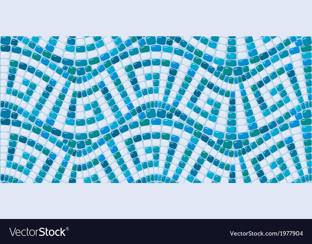 Seamless mosaic pattern - blue ceramic tile - clas vector | Price: 1 Credit (USD $1)