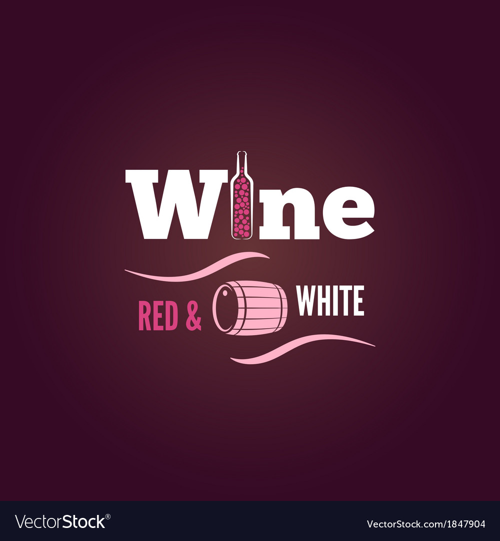Wine bottle red and white design background vector | Price: 1 Credit (USD $1)