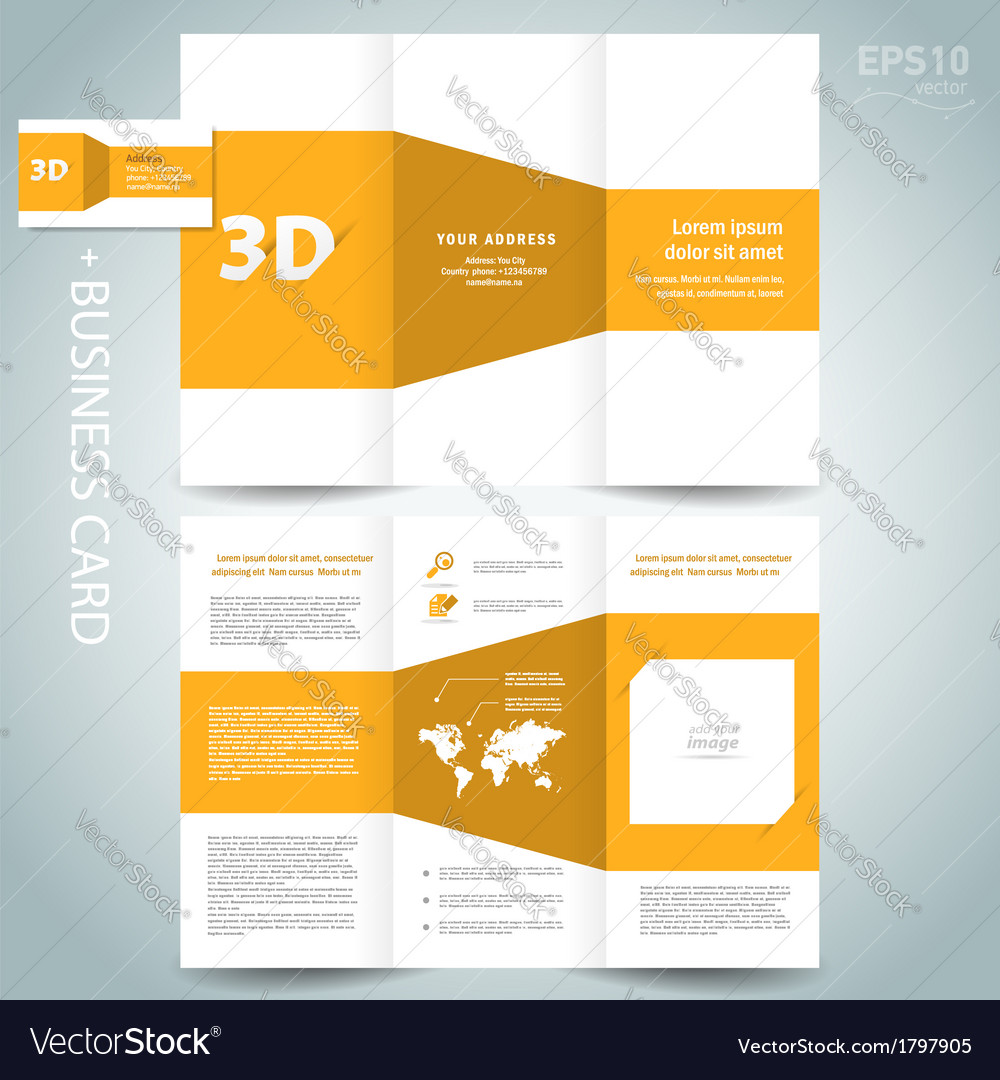 3d dimensional design brochure vector | Price: 1 Credit (USD $1)