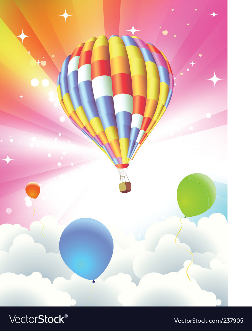 Balloon abstract background vector | Price: 3 Credit (USD $3)
