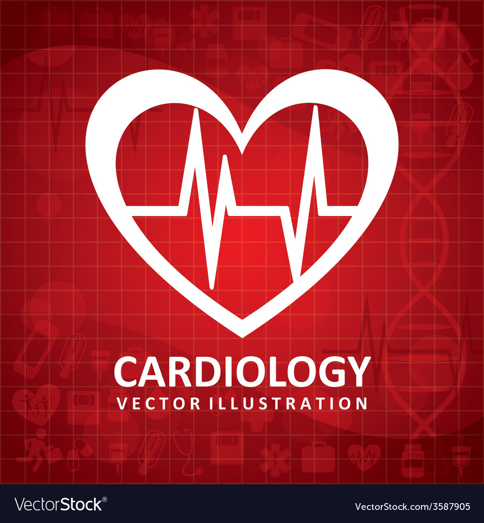 Cardiology icon vector | Price: 1 Credit (USD $1)