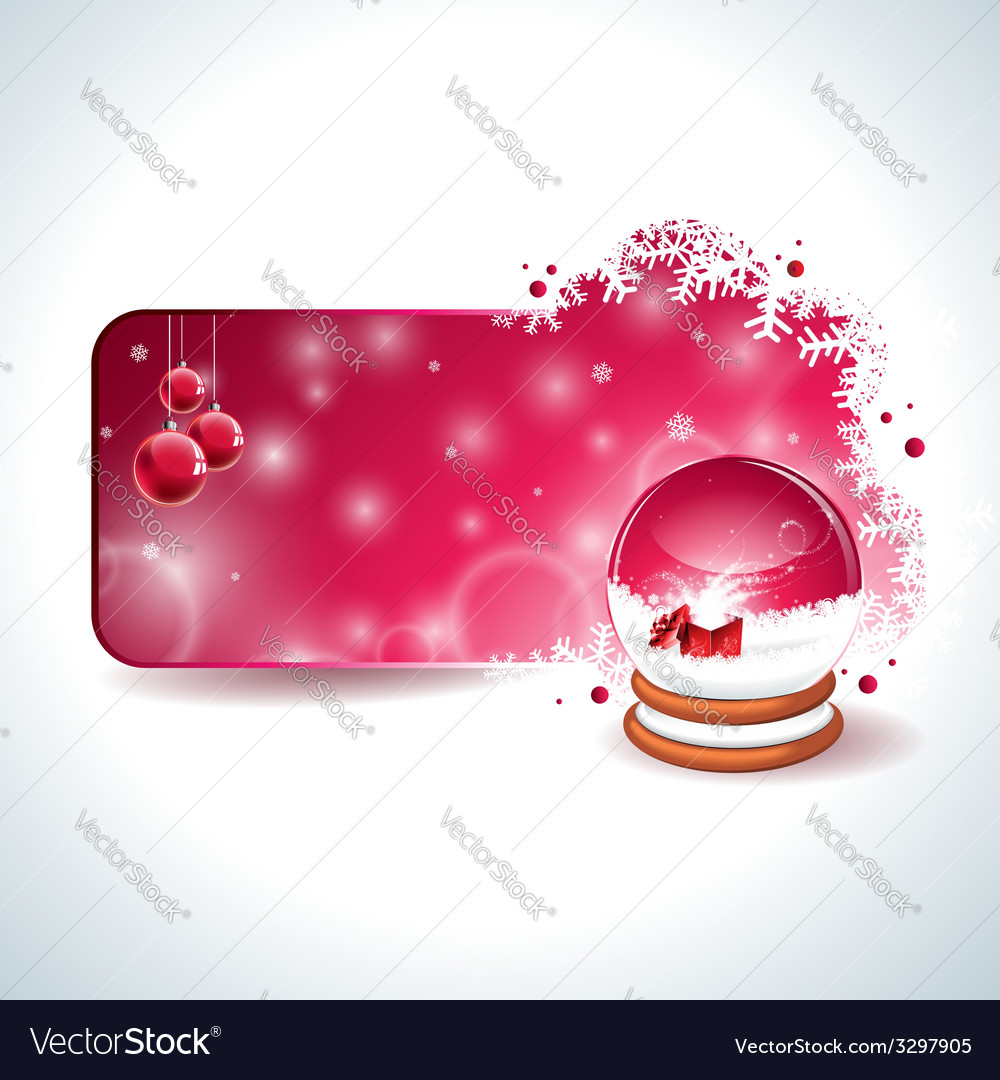 Christmas design with magic snow globe vector | Price: 1 Credit (USD $1)