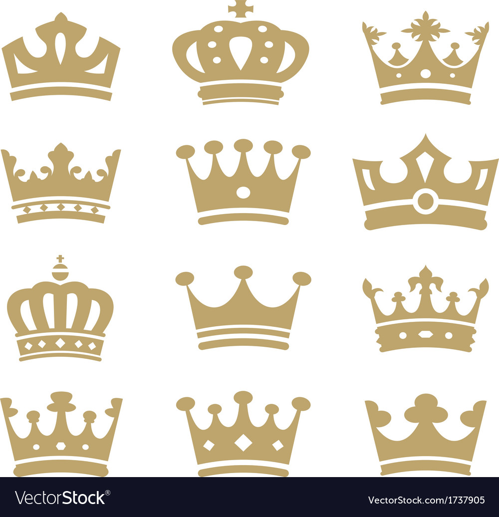 Crown collection - silhouette vector | Price: 1 Credit (USD $1)