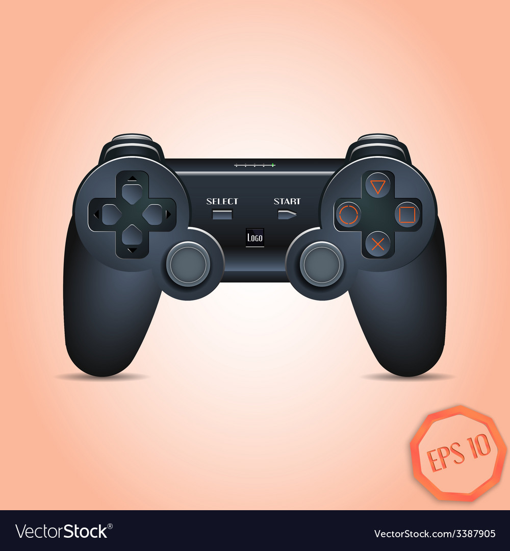 Gamepad joystick joystick game console realistic vector | Price: 3 Credit (USD $3)