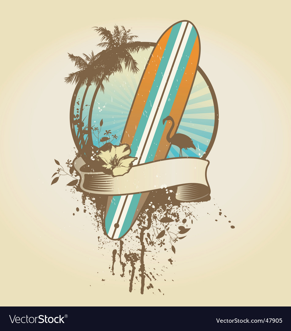 Surf emblem vector | Price: 1 Credit (USD $1)