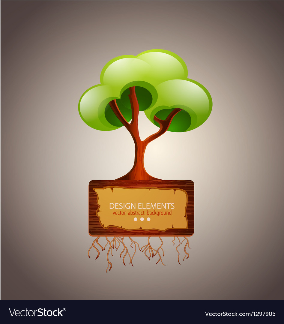 Tree with space for text design element vector | Price: 1 Credit (USD $1)