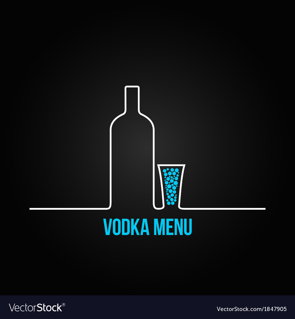 Vodka bottle glass deign menu background vector | Price: 1 Credit (USD $1)