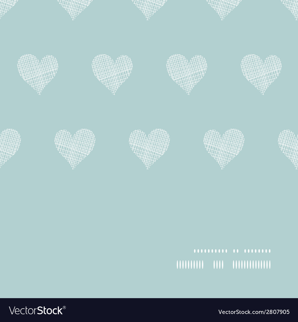 White lace hearts textile texture horizontal frame vector | Price: 1 Credit (USD $1)
