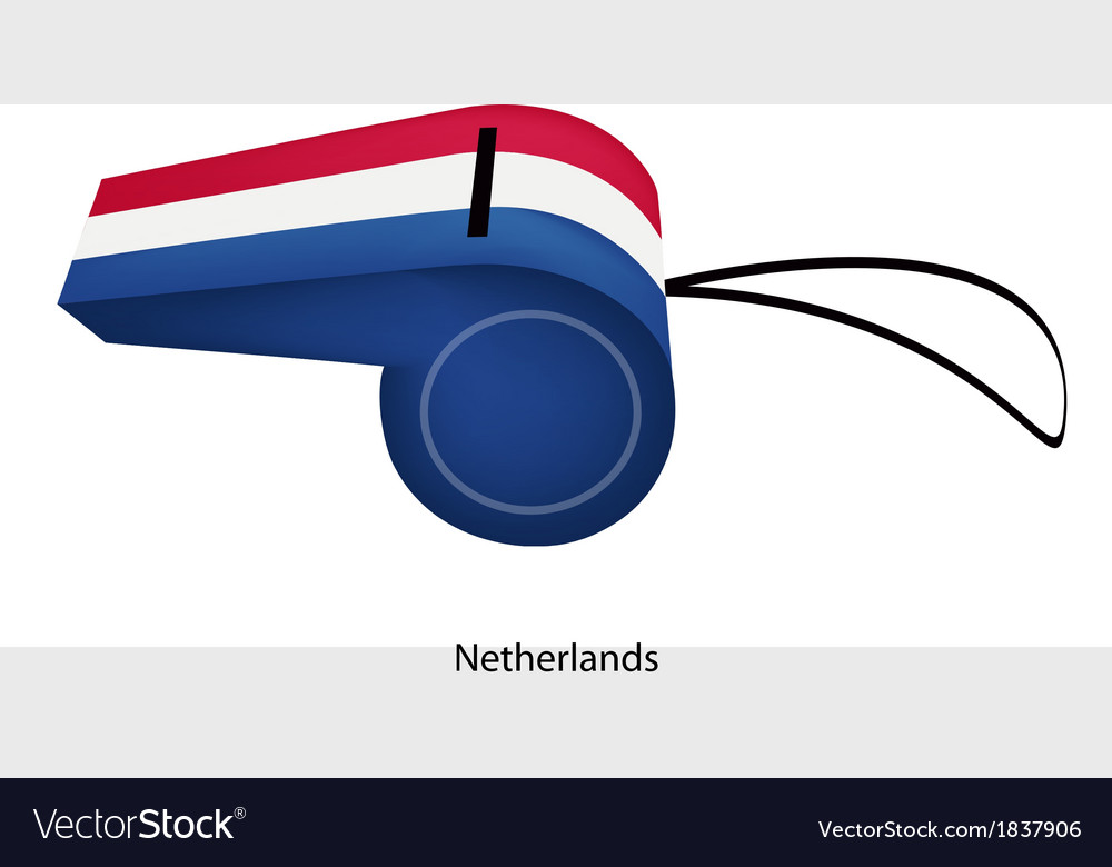 A red white and blue whistle of netherlands vector | Price: 1 Credit (USD $1)