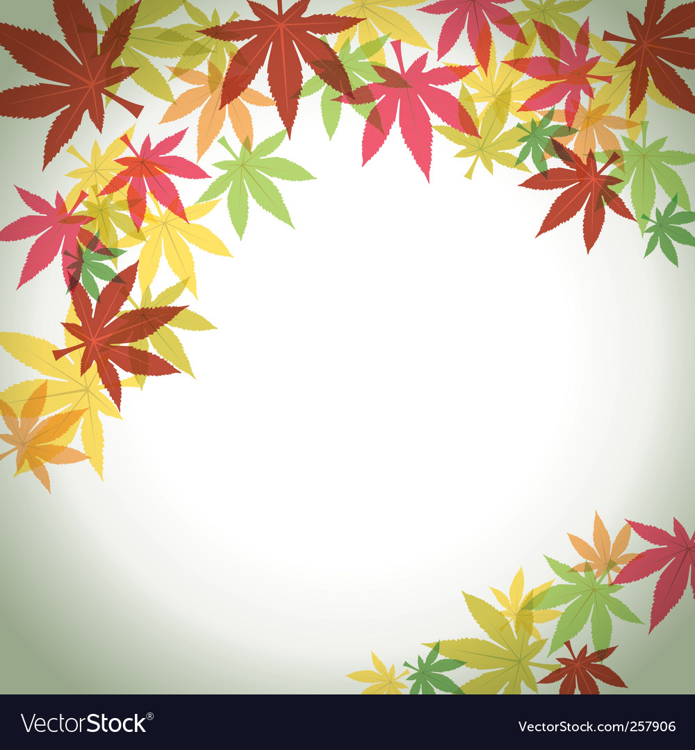 Autumn foliage background vector | Price: 1 Credit (USD $1)