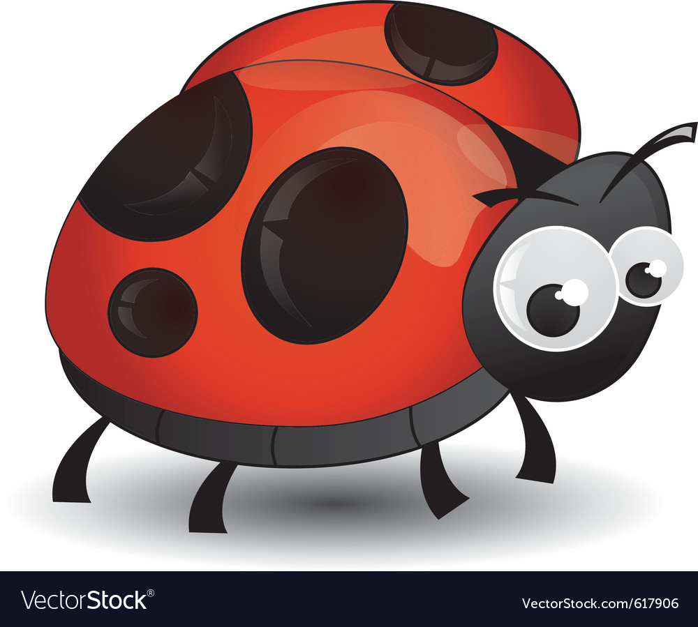 Comic ladybird isolated vector | Price: 1 Credit (USD $1)