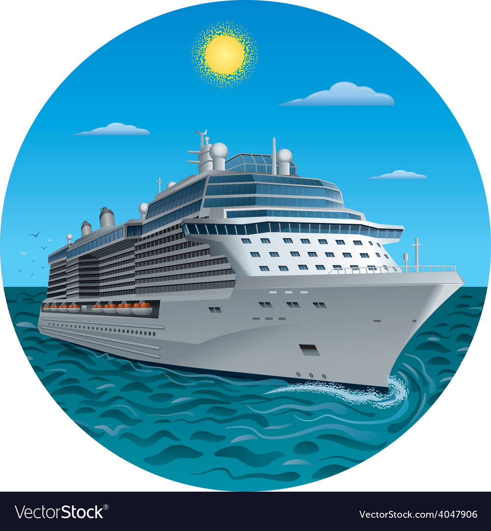 Cruise ship vector | Price: 5 Credit (USD $5)