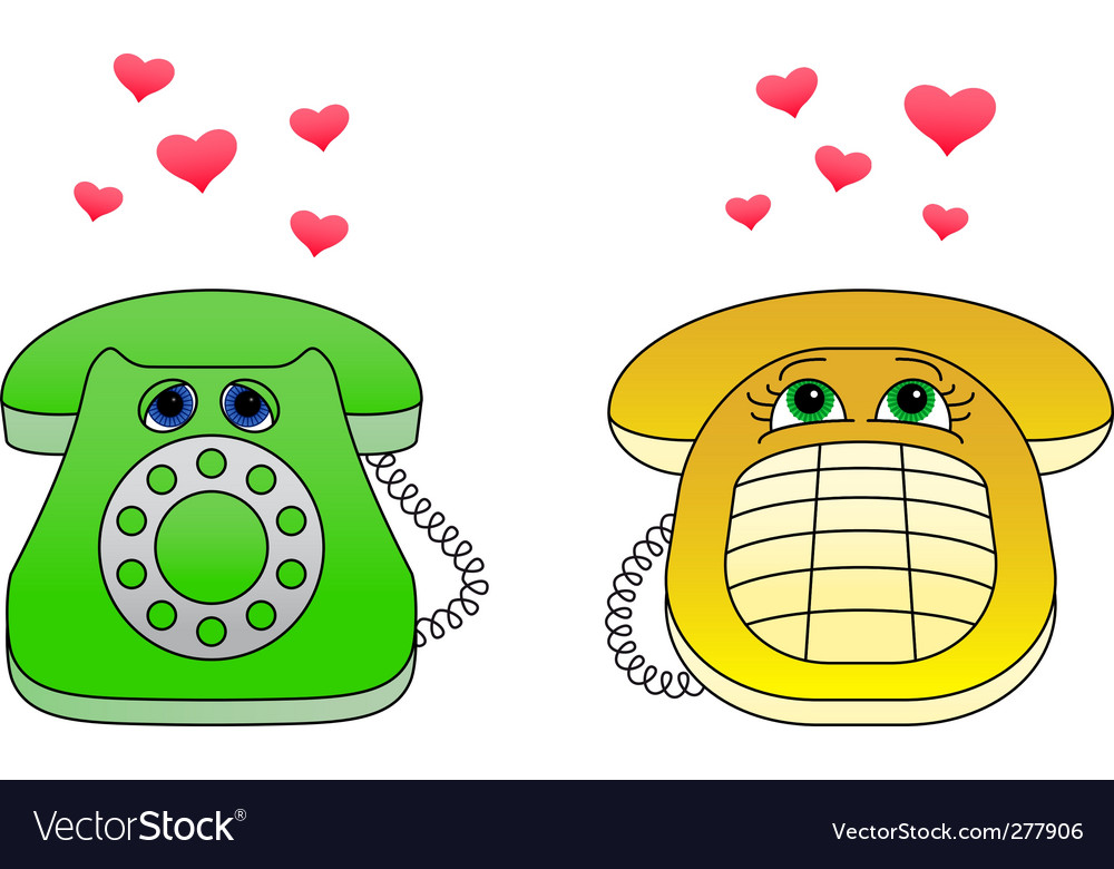 Desktop phone vector | Price: 1 Credit (USD $1)