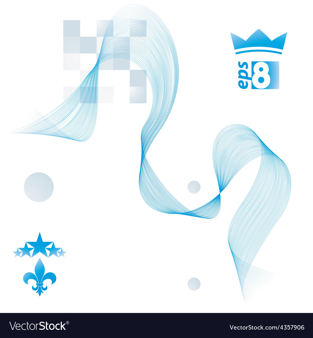 Elegant flowing lines background royal design eps8 vector | Price: 1 Credit (USD $1)
