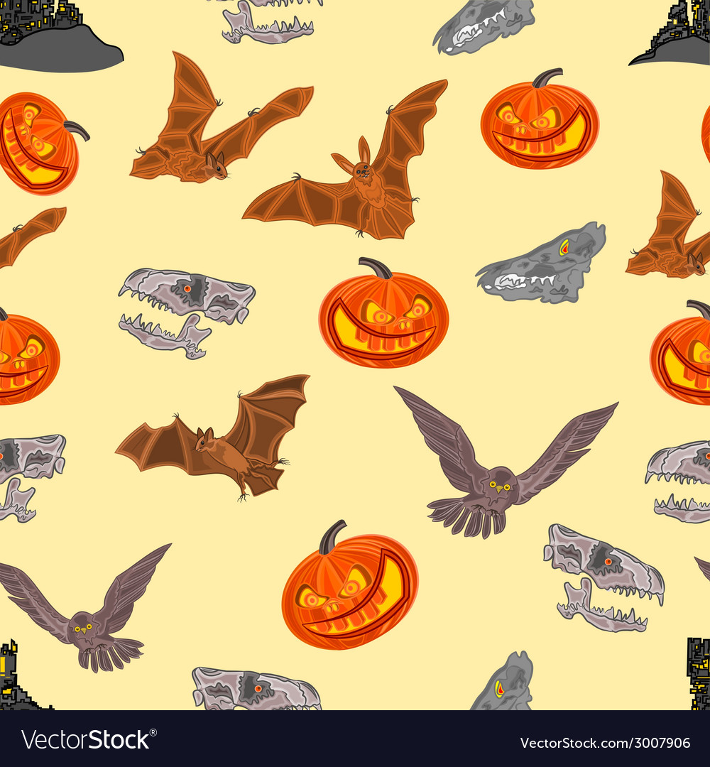 Halloween seamless texture vector | Price: 1 Credit (USD $1)