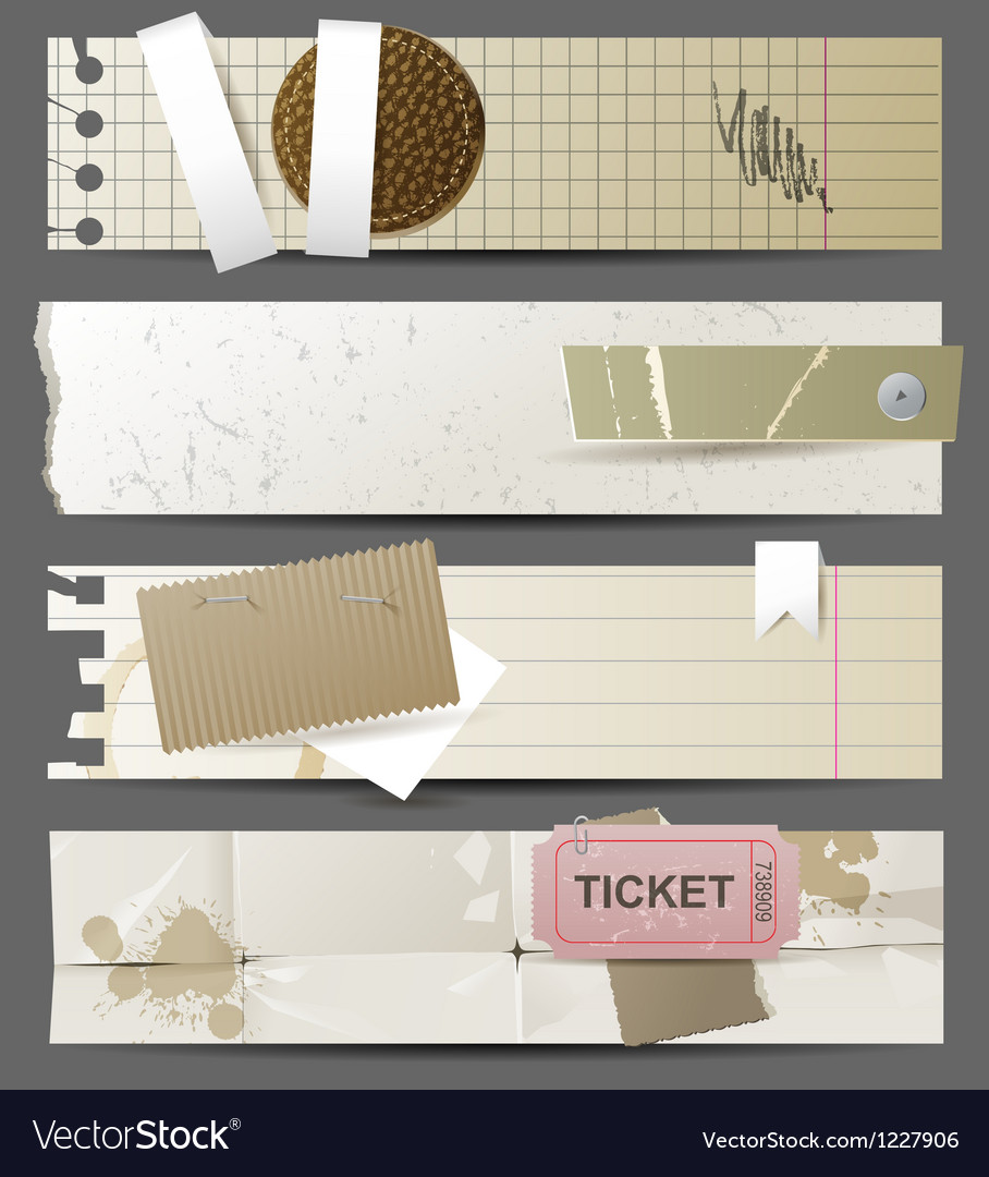 Horizontal paper banners vector | Price: 1 Credit (USD $1)