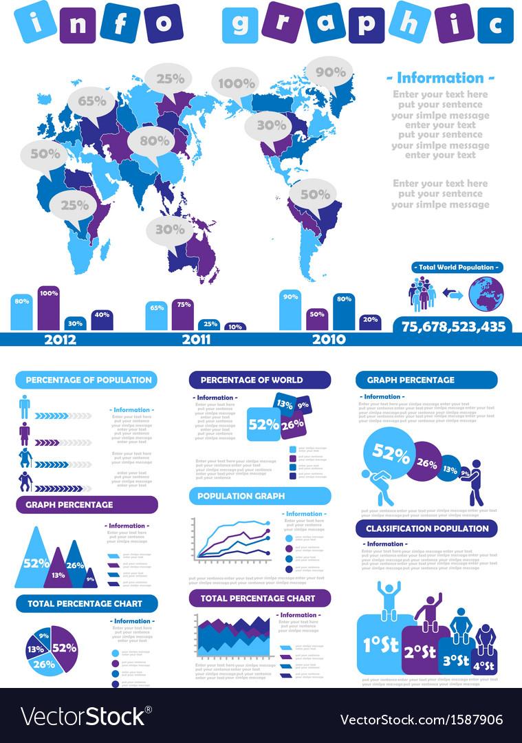 Infographic demographics toy purple vector | Price: 1 Credit (USD $1)