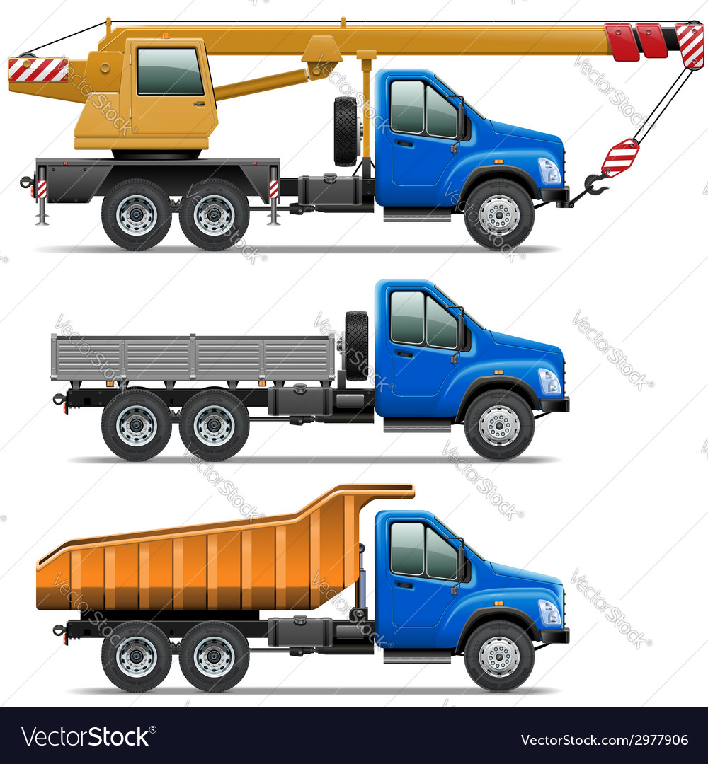 Lorry icons set 3 vector | Price: 1 Credit (USD $1)