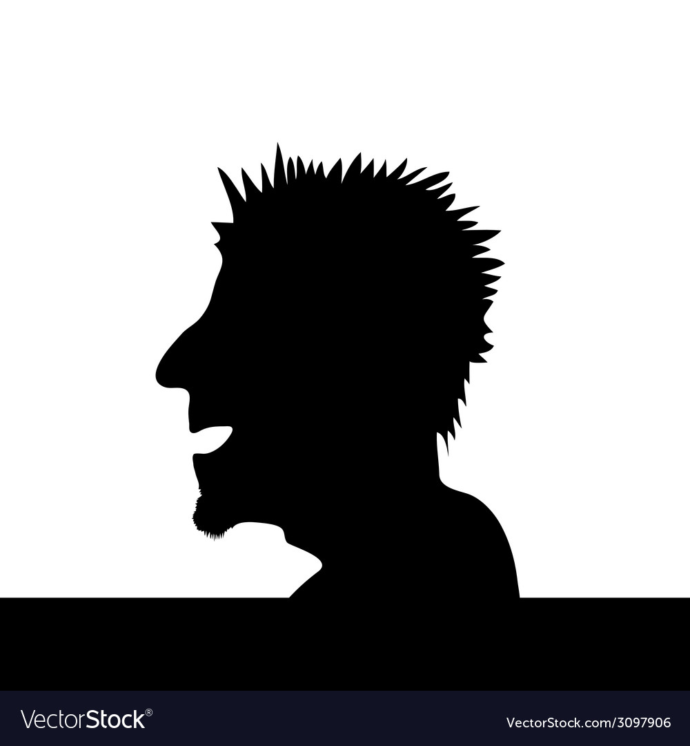 Man head vector | Price: 1 Credit (USD $1)