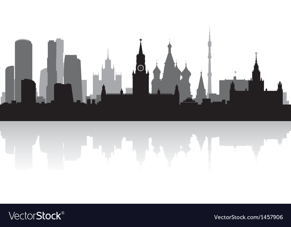 Moscow city skyline silhouette vector | Price: 1 Credit (USD $1)