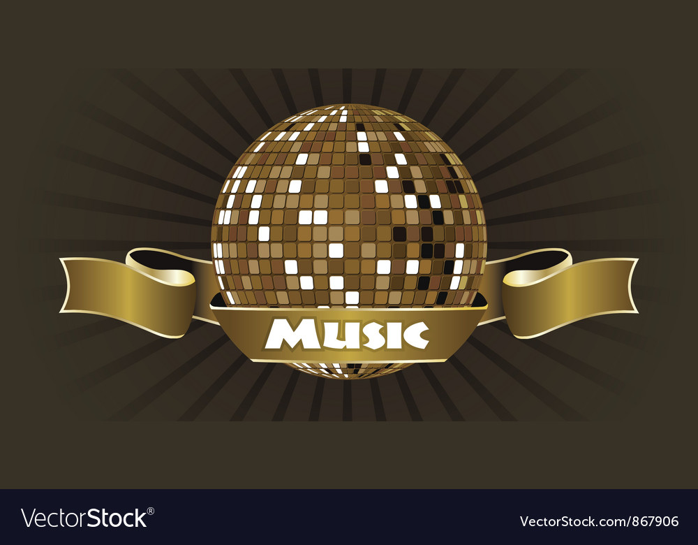 Music emblem vector | Price: 1 Credit (USD $1)