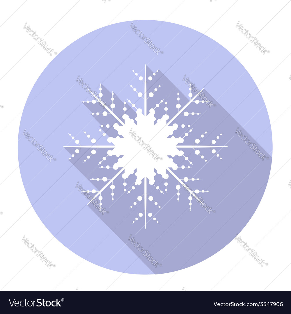 Snowflake flat icon vector | Price: 1 Credit (USD $1)