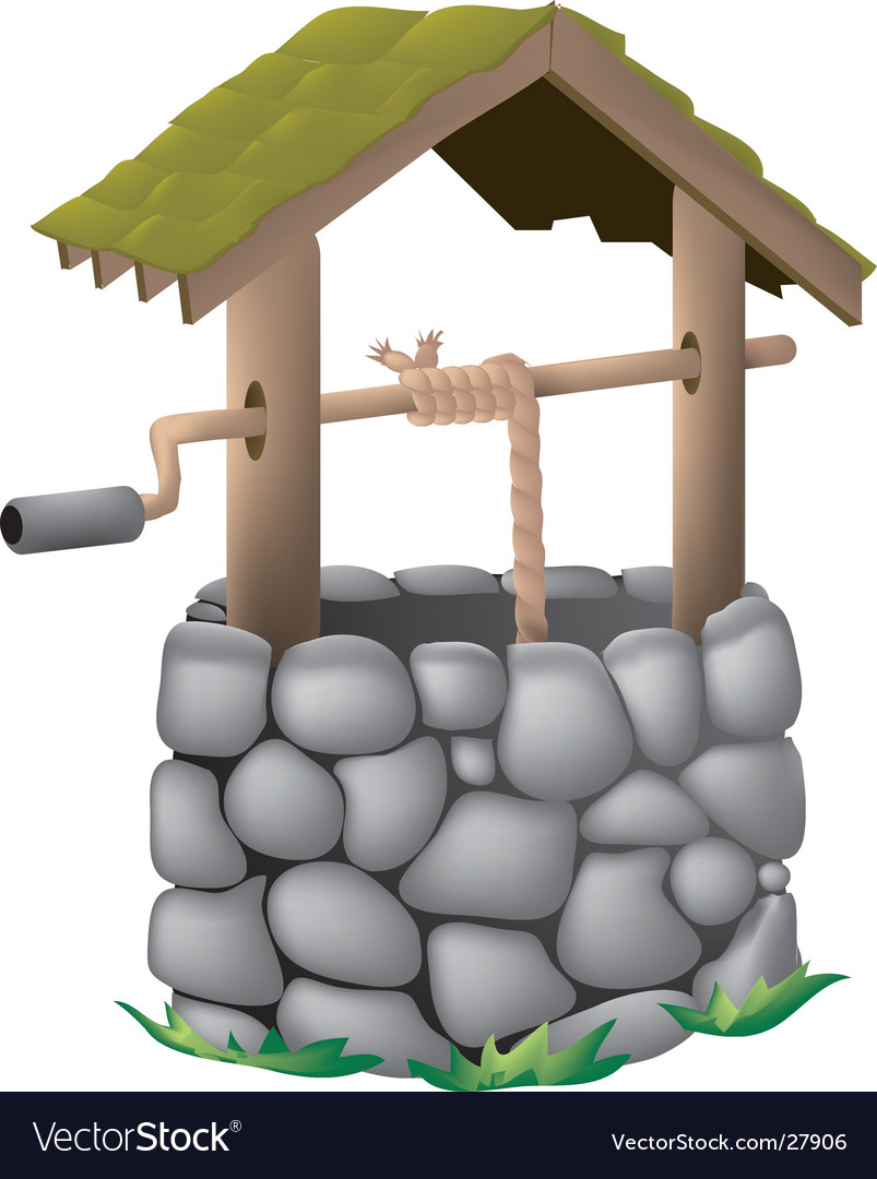Wishing well vector | Price: 1 Credit (USD $1)
