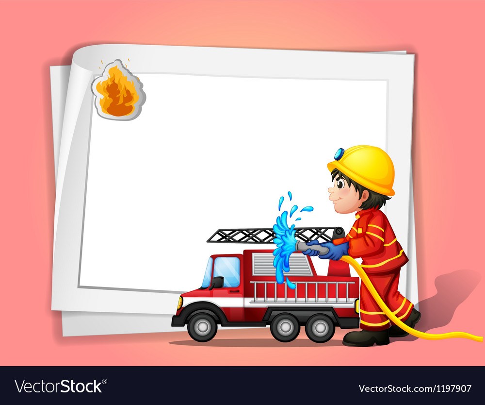 A fireman vector | Price: 1 Credit (USD $1)