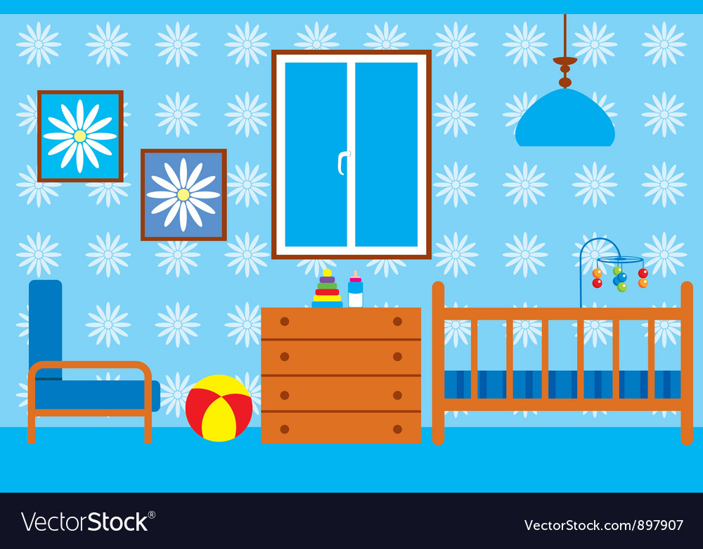 Child room for the newborn vector | Price: 1 Credit (USD $1)