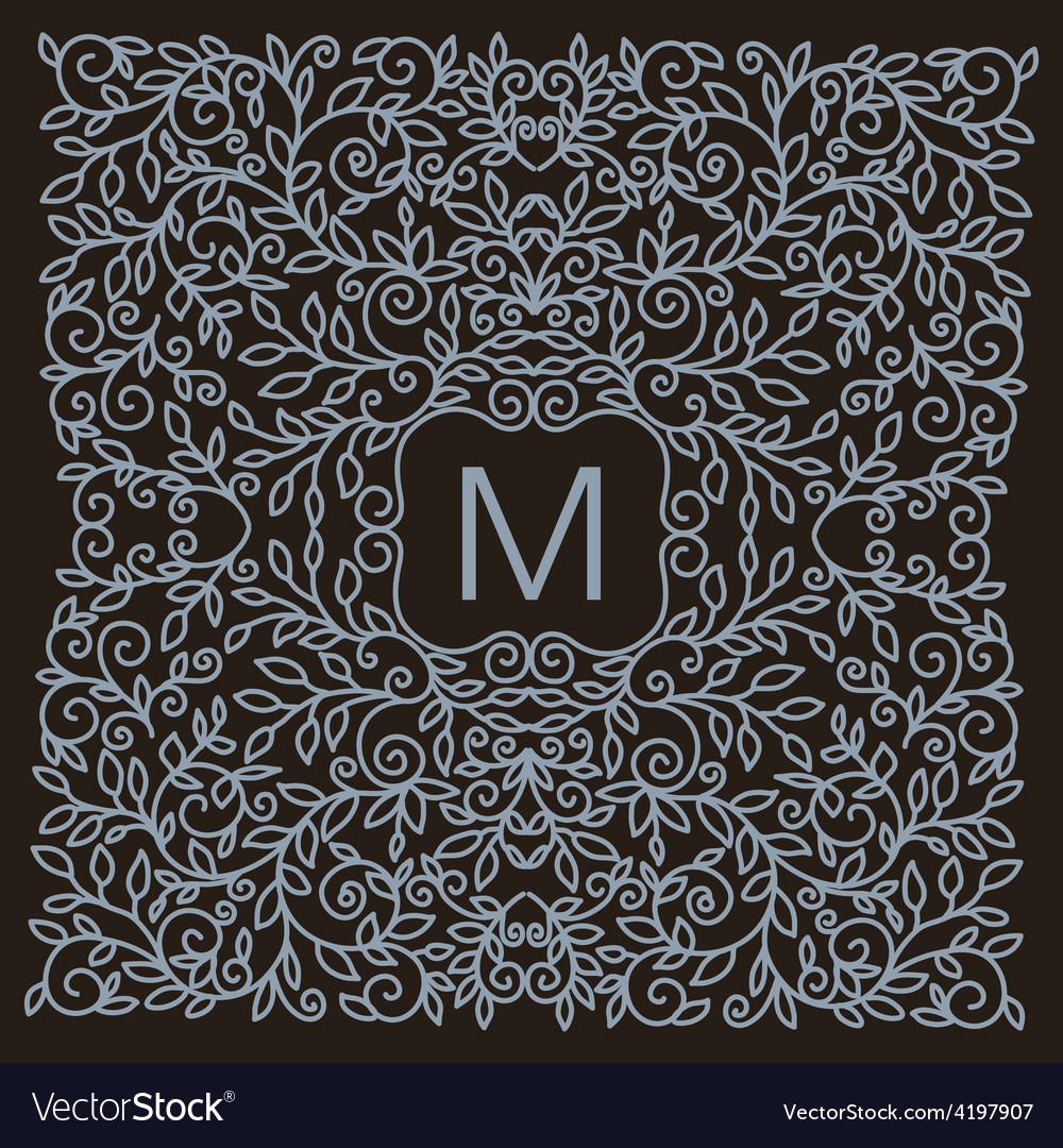 Monogram design element vector | Price: 1 Credit (USD $1)