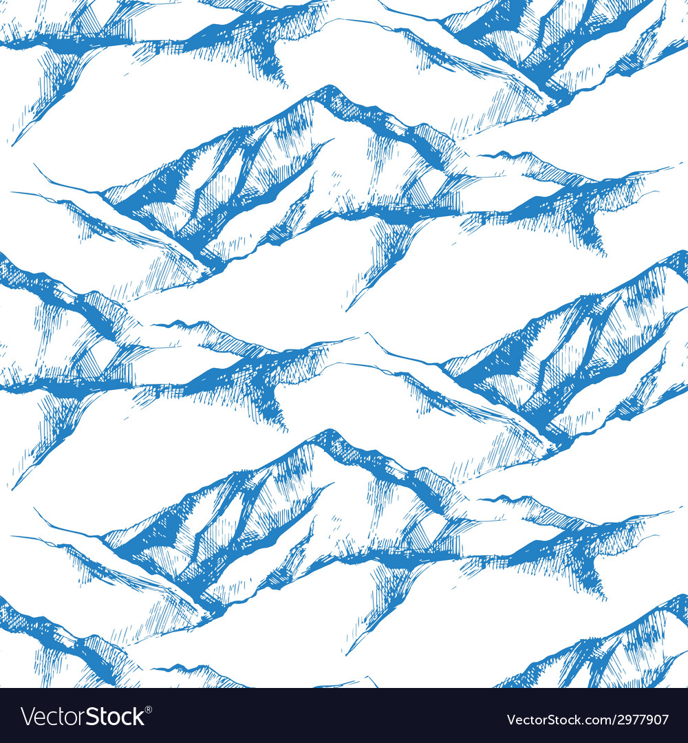 Mountain seamless vector | Price: 1 Credit (USD $1)