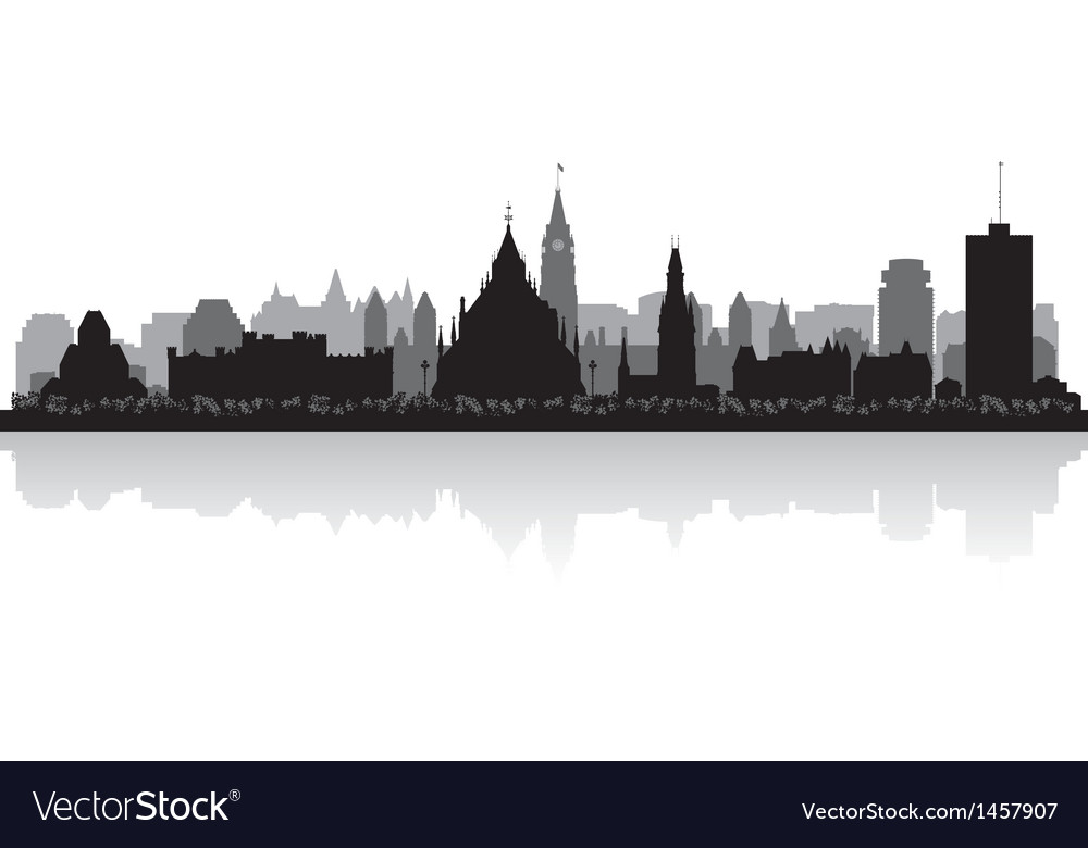 Ottawa canada city skyline silhouette vector | Price: 1 Credit (USD $1)