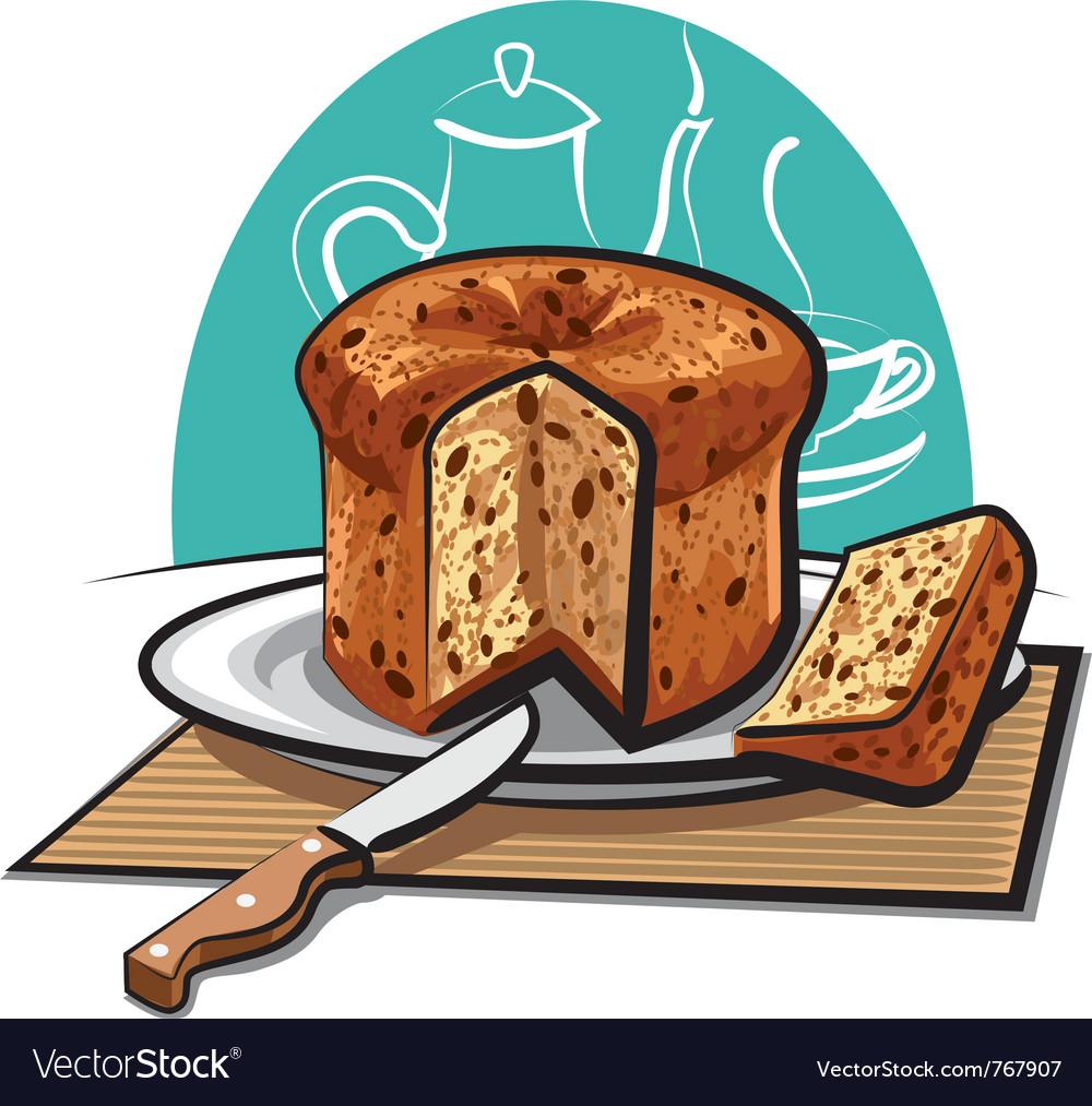 Panettone cake vector | Price: 3 Credit (USD $3)