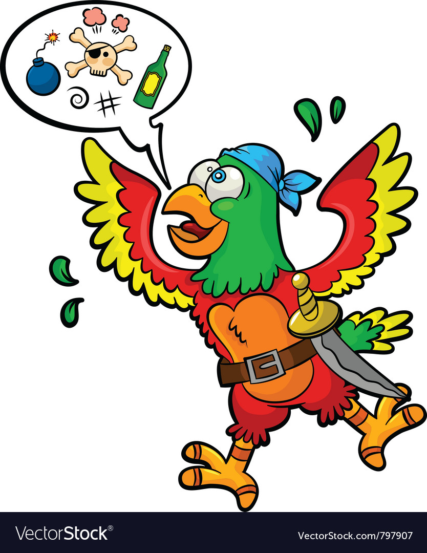 Pirate parrot vector | Price: 3 Credit (USD $3)
