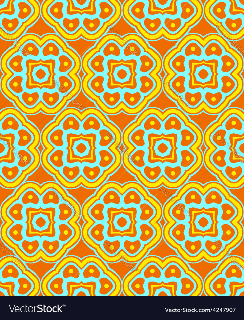 Psychedelic abstract colorful orange yellow cyan vector | Price: 1 Credit (USD $1)
