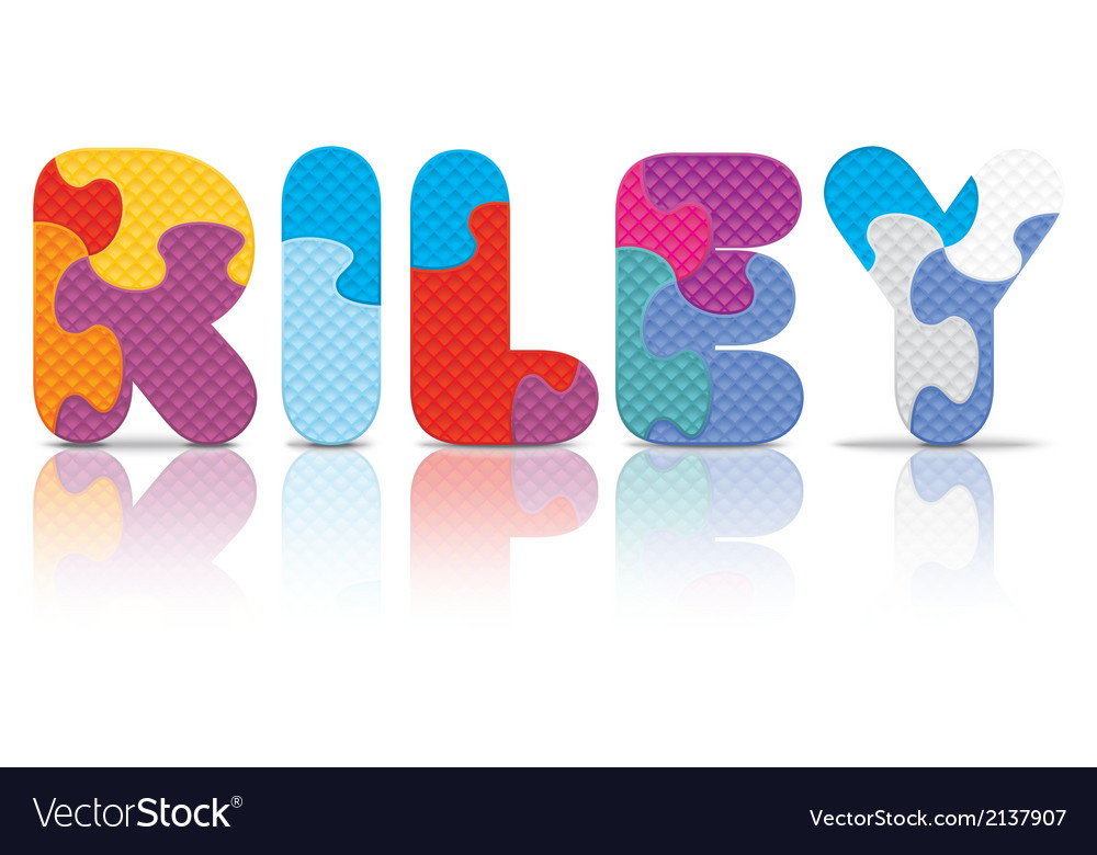 Riley written with alphabet puzzle vector | Price: 1 Credit (USD $1)
