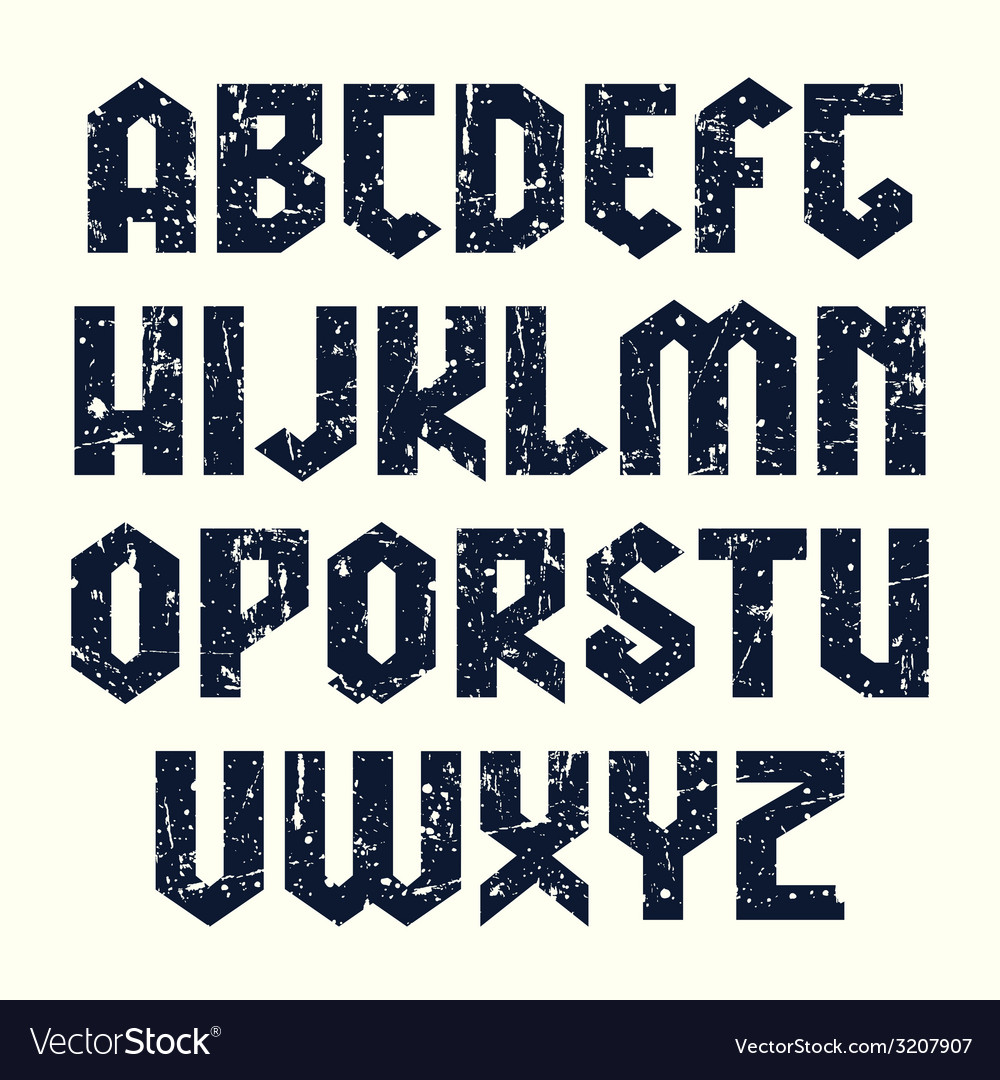 Sans serif lineales font in gothic style vector | Price: 1 Credit (USD $1)