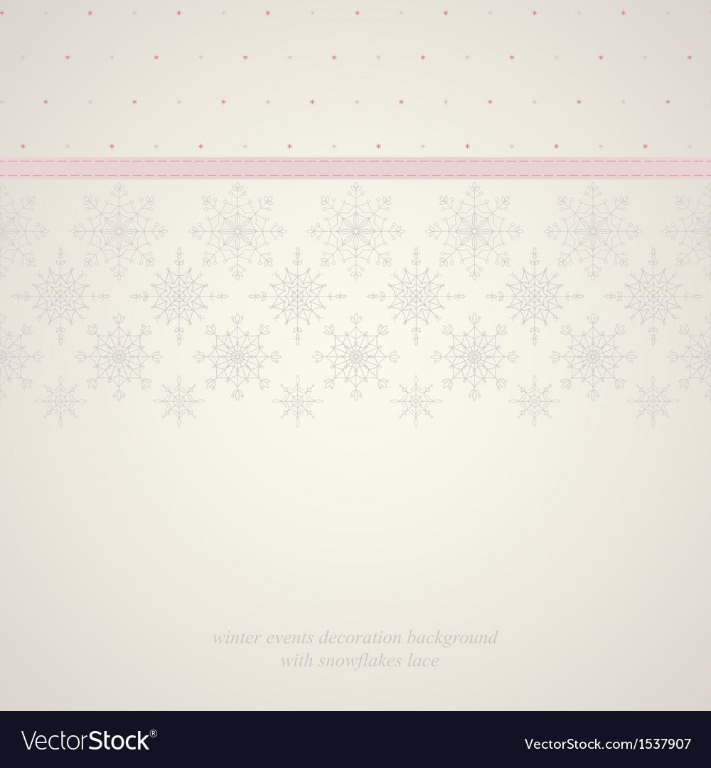 Seamless snowflakes lace background 2 vector | Price: 1 Credit (USD $1)