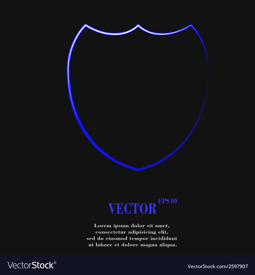 Shield protection flat modern web button and space vector   Price: 1 Credit (USD $1)