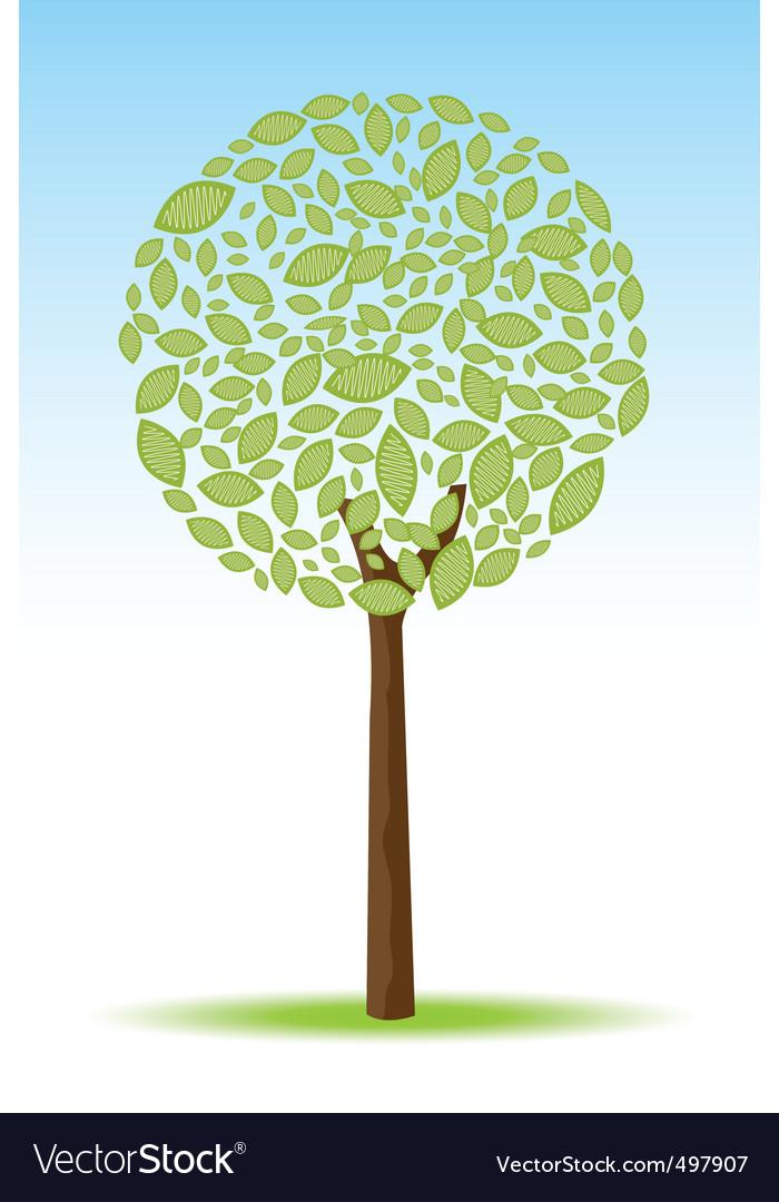 Sketchy tree vector | Price: 1 Credit (USD $1)