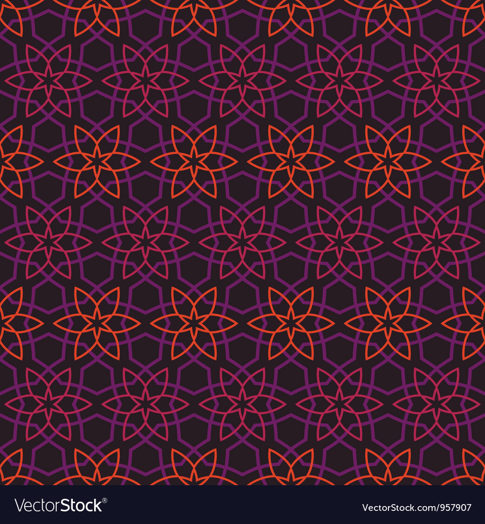 Vintage pattern wallpaper seamless background vector   Price: 1 Credit (USD $1)