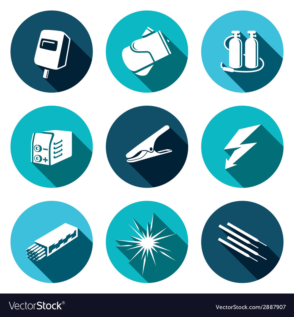 Welding icon set vector | Price: 1 Credit (USD $1)